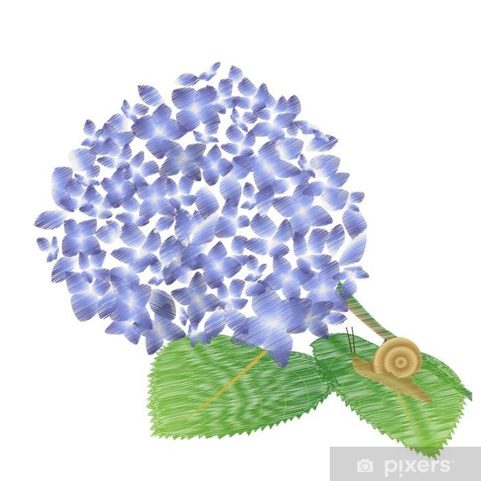 Poster Schnecke - Blumen