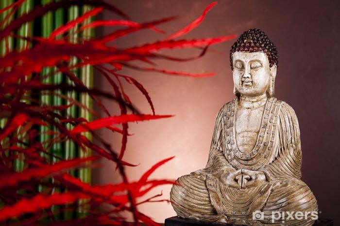 Naklejka Pixerstick Statua Buddy w medytacji - Tematy