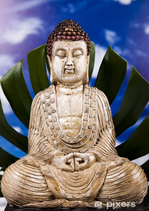 Sticker Pixerstick Bouddha dans le zen conceptuel - Thèmes
