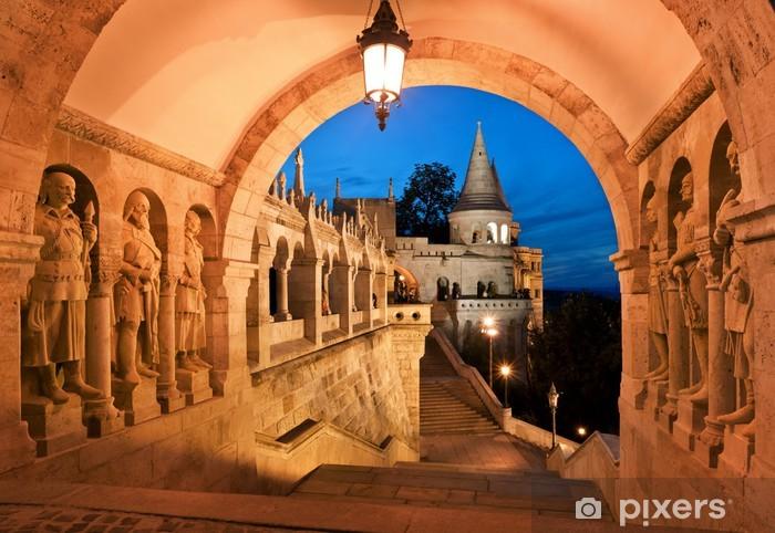 Naklejka Pixerstick Południe brama Halaszbastya w Budapeszcie - Tematy