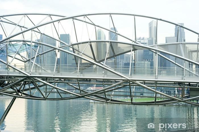 Vinyl-Fototapete Die Helix-Brücke - Asiatische Städte