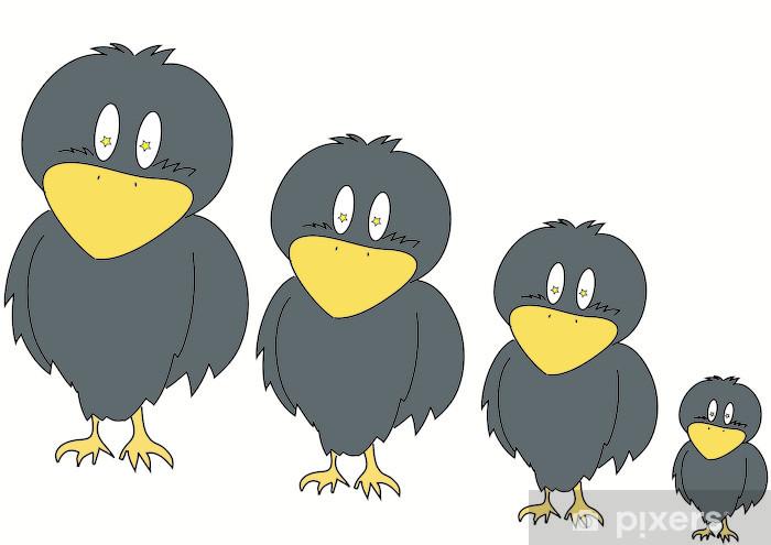 カラス Pixerstick Sticker - Birds