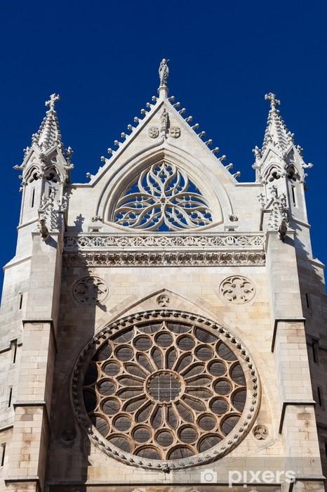 Vinylová fototapeta Rosetón de la Catedral de Leon, Castilla y León, España - Vinylová fototapeta
