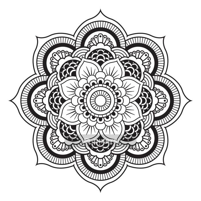 Naklejka na ścianę Mandala. okrągły ornament - Naklejki na ścianę