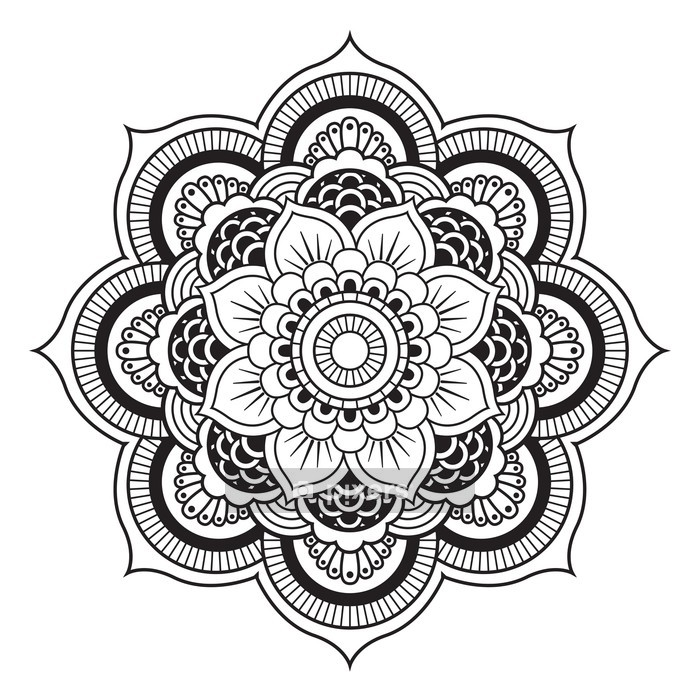 Mandala. Round Ornament Pattern Wall Decal - Wall decals
