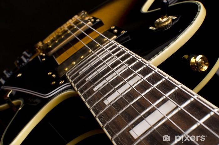 Vinyl Fotobehang Elektrische gitaar close up - Rock