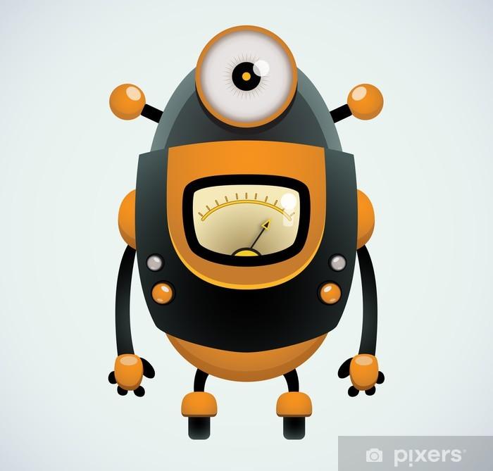Adesivo cartone animato robot u pixers viviamo per il cambiamento