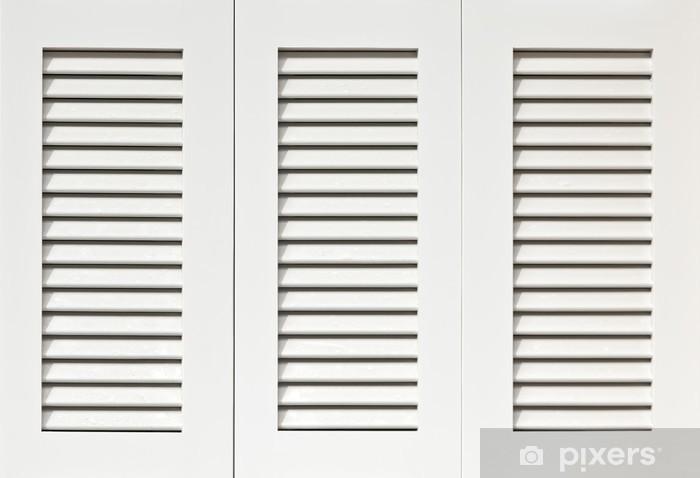 Papier peint vinyle Volets blancs - Textures