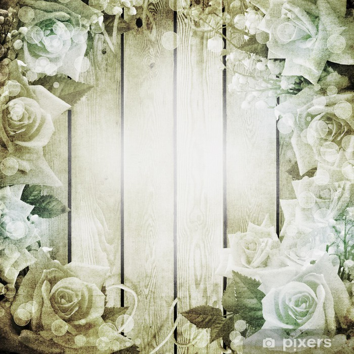 wedding vintage romantic background with roses wall mural pixers we live to change wedding vintage romantic background with roses wall mural pixers we live to change