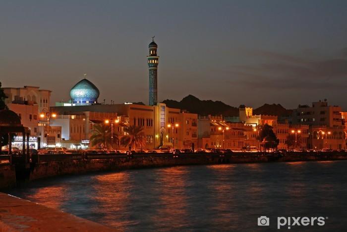 Papier peint vinyle Oman, Muscat soir - Moyen Orient