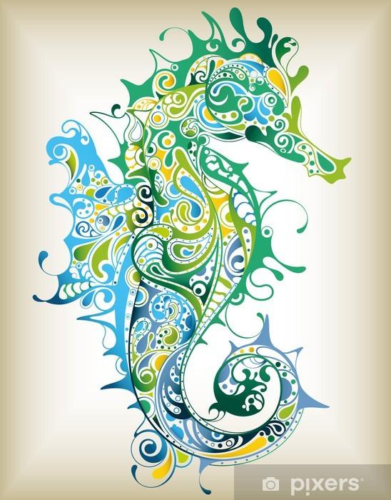 Fototapeta winylowa Abstrakcyjne Konik morski - Style