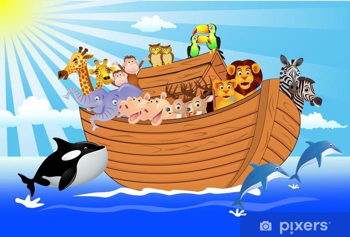 Fotomural Estándar Noé arca - Para niña