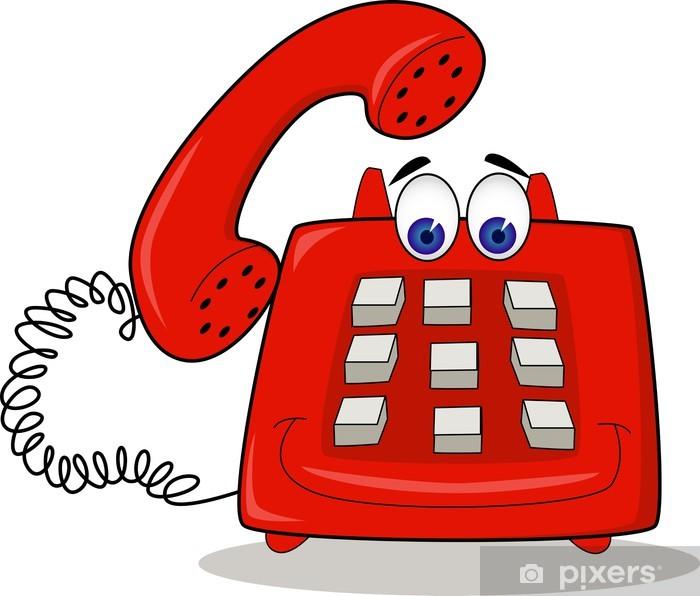 Aufkleber Telefon Cartoon • Pixers® - Wir leben, um zu verändern