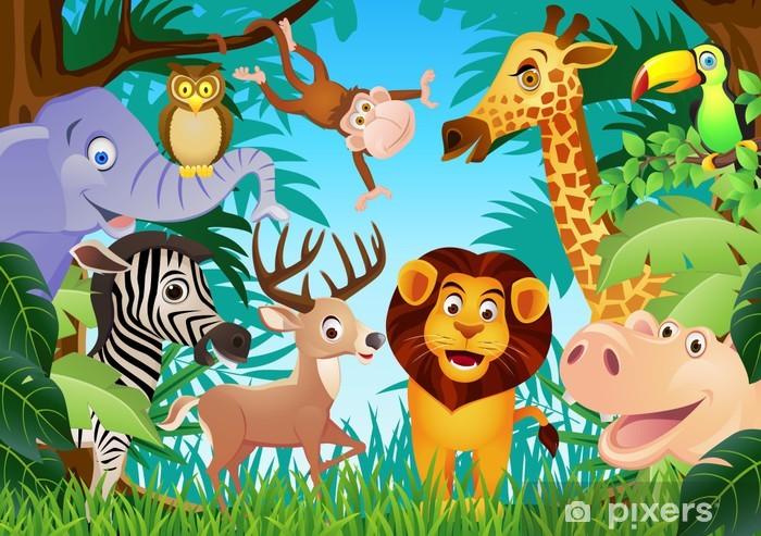 Papier peint vinyle Animal cartoon - Pour élève