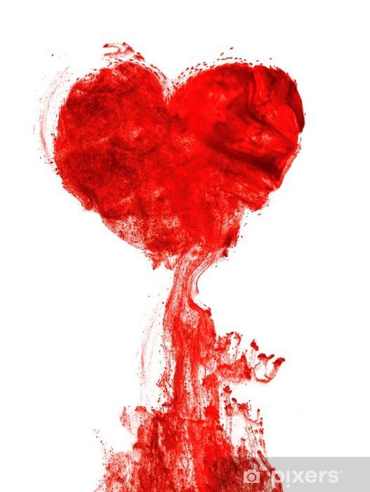 Fotomural Lavable Corazón de tinta forma de sangre - iStaging