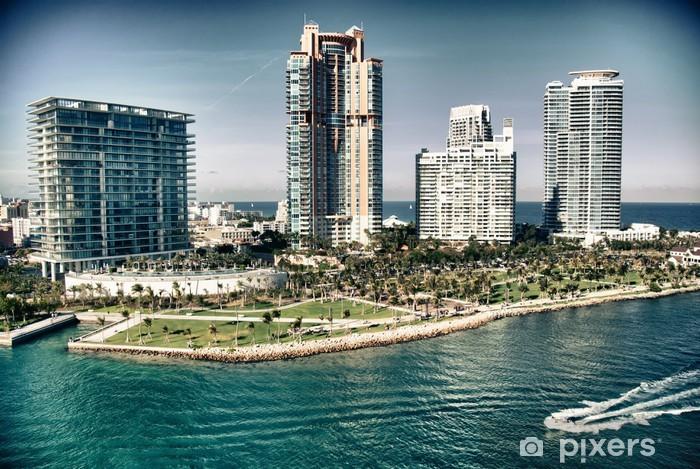 Fototapeta winylowa Widok z lotu ptaka Miami Beach, Floryda - Wakacje