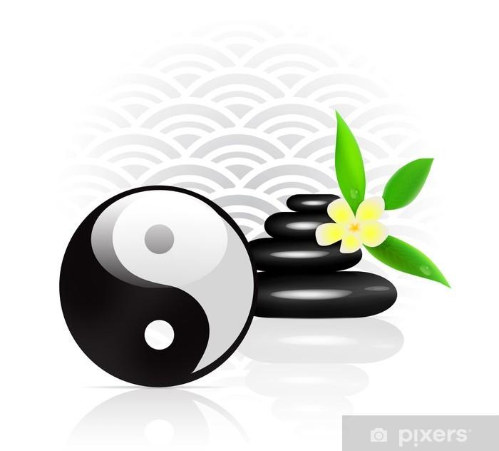 Papier peint Feng Shui fond avec le symbole Yin Yang • Pixers® - Nous vivons pour changer