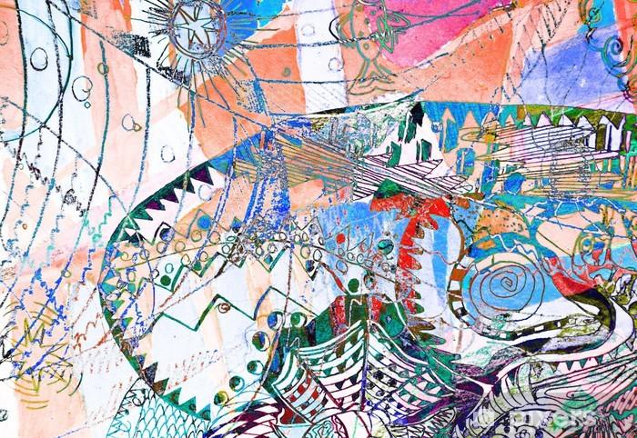 Sticker Pixerstick Fond abstrait - Abstrait