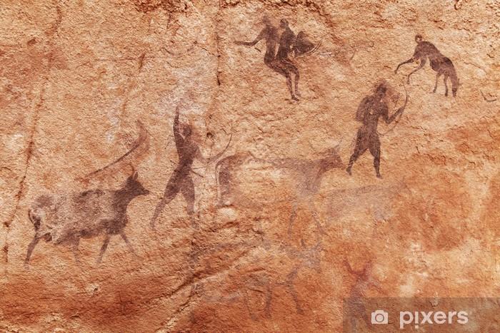 Rock paintings of Tassili N'Ajjer, Algeria Washable Wall Mural - Africa