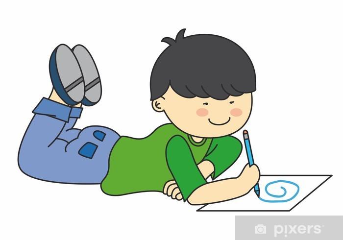 Carta Da Parati Bambino Disegno Vettore Pixers Viviamo Per Il