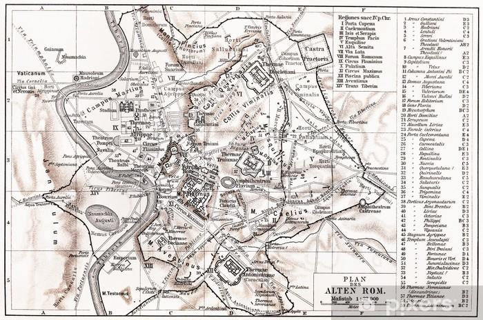 Fototapeta winylowa Mapa starożytnego Rzymu - Style