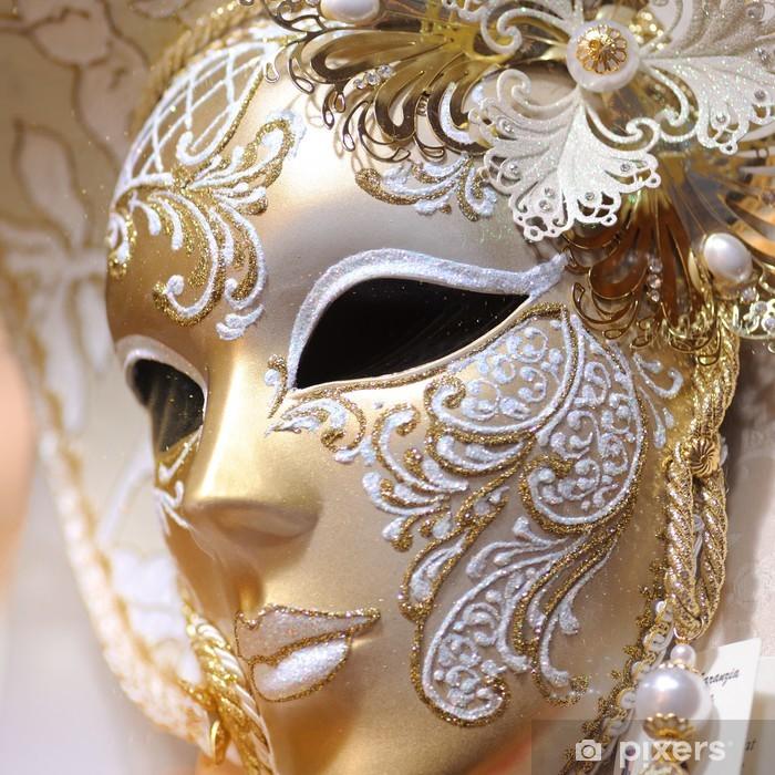 Venetian Carnival Mask Pixerstick Sticker - European Cities