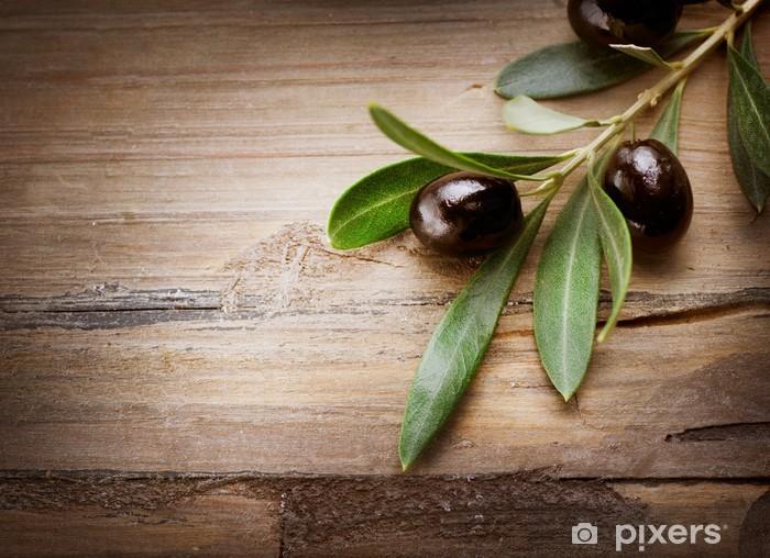 Pixerstick Dekor Oliver på en trä bakgrund - Oliver