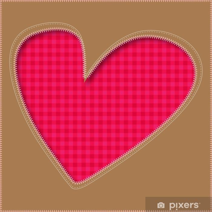 Poster Herz Patchwork PINK - Texturen