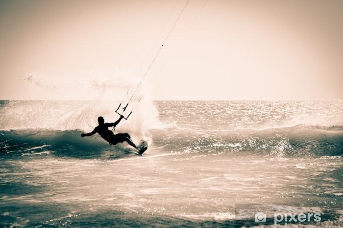 Fototapeta winylowa Kitesurfingu w Andaluzji w Hiszpanii. - Tematy