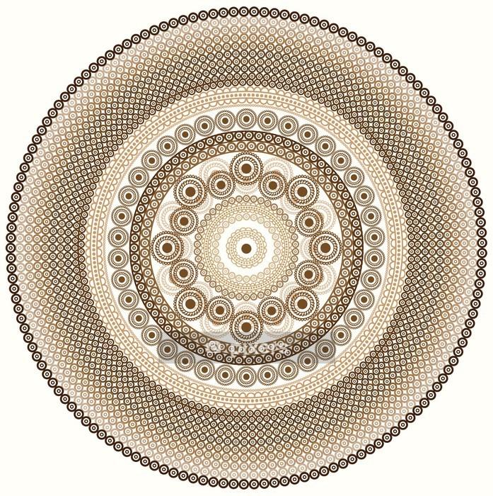 Detailed Henna Mandala Design Wall Decal - Wall decals