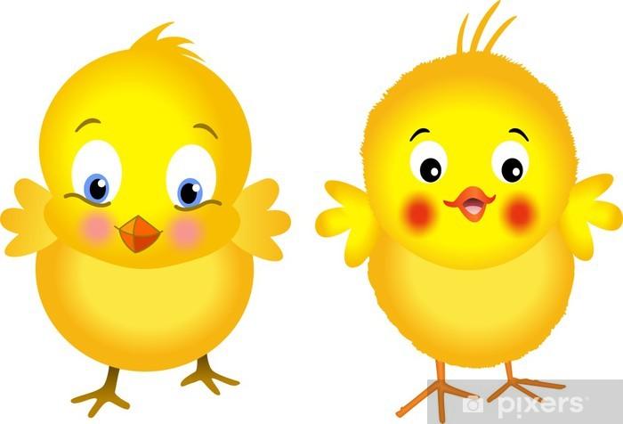 Naklejka Pixerstick Żółte Chicks - Święta międzynarodowe