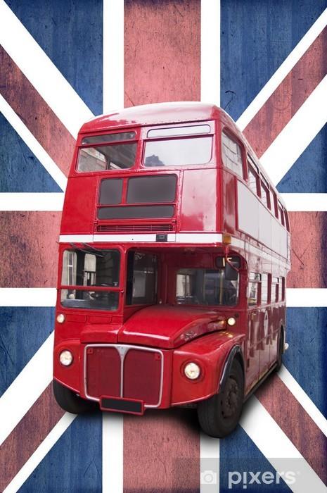 Fototapeta winylowa Bus rouge londonien, lubiący Union Jack - Tematy