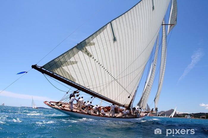 team spirit esprit d'équipe voilier regate mer ocean yachting Vinyl Wall Mural - Boats