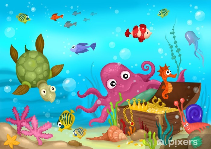 Pixerstick Sticker Sea Life - Thema's