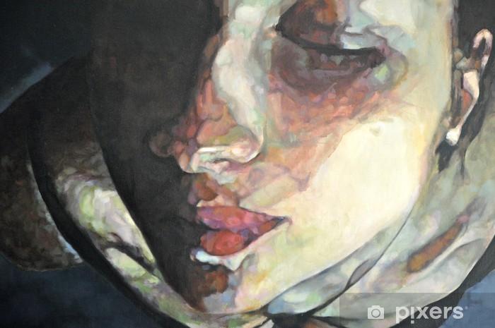 tableau de visage féminin Pixerstick Sticker - Themes