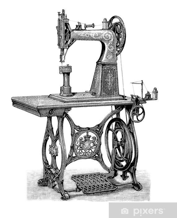 Naklejka Pixerstick Maszyna do szycia - Maszyny
