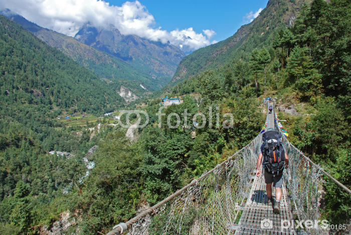 Vinylová fototapeta Trekking v Himalájích, Nepálu - Vinylová fototapeta