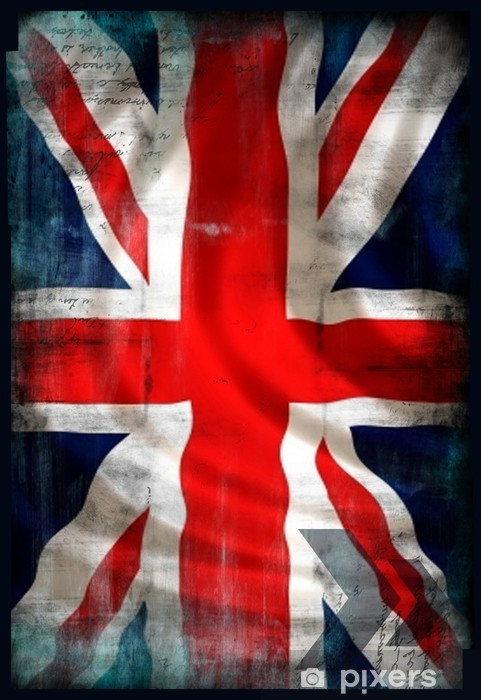 Fototapeta winylowa Brytyjski Union Jack Flaga w stylu grunge -