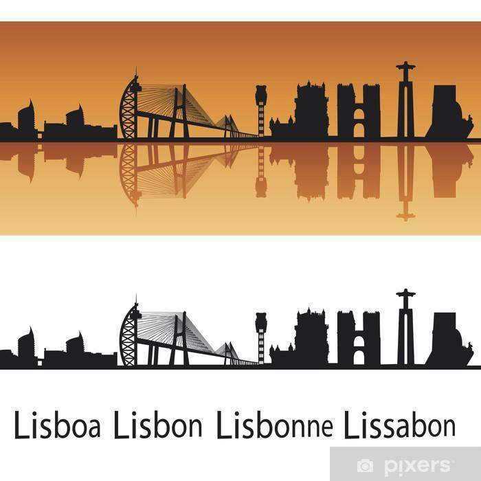 Poster Lissabon-Skyline - Europäische Städte
