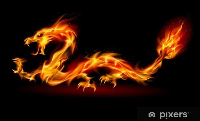 Sticker pour frigo Dragon de feu - Styles