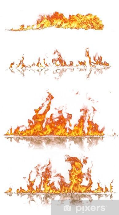 Fototapeta winylowa Wysoka kolekcja ogień rozdzielczość, izolowane na białym tle - Klęski żywiołowe