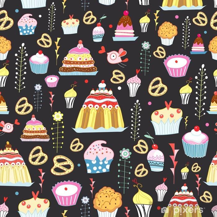 Naklejka Pixerstick Wzór słodkich ciast - Słodycze i desery