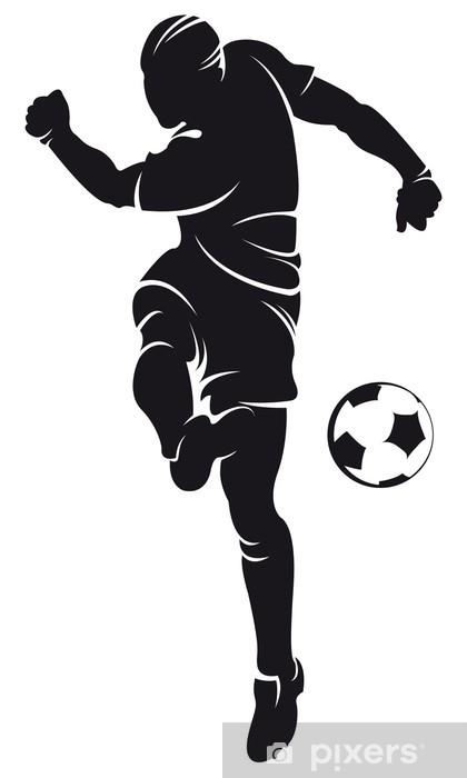 Cojín decorativo Jugador de fútbol vectorial (fútbol) silueta con ...