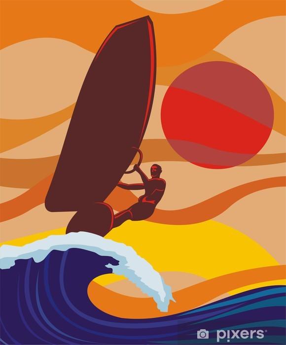 Carta da Parati in Vinile Sull'onda - windsurf - Sport individuali