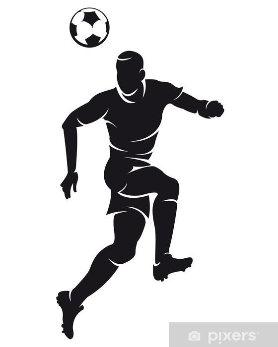 Autocolante Pixerstick Vector football (soccer) player silhouette ...