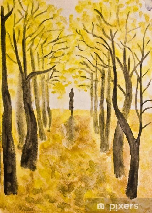Naklejka Pixerstick Atumn alley, malarstwo - Tematy