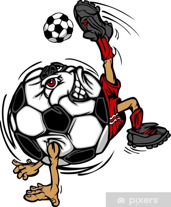 5faef3acf4 Fotomural Estándar Fútbol Fútbol bola del jugador de dibujos animados