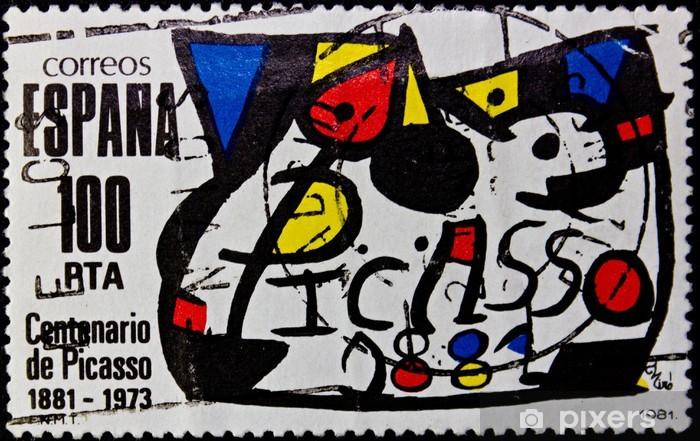 Papier peint vinyle Cachet Espagne - Finance