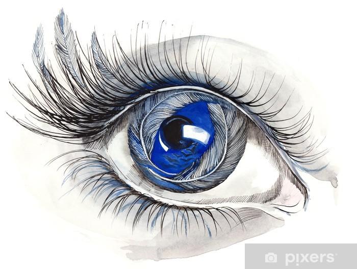 Fototapeta winylowa Streszczenie ludzkie oko (seria C) - Tematy