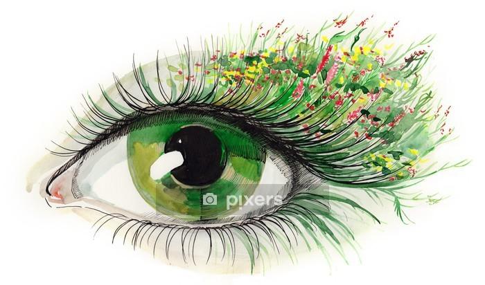 green human eye (series C) Wall Decal -